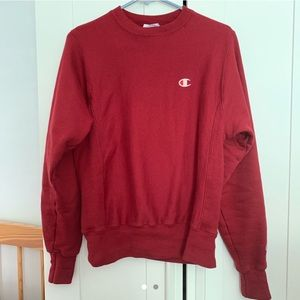 Champion Red Reverse Weave Pullover Crewneck